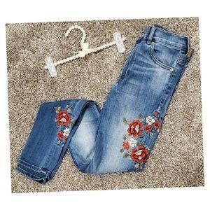 Express   Floral Skinny Jeans